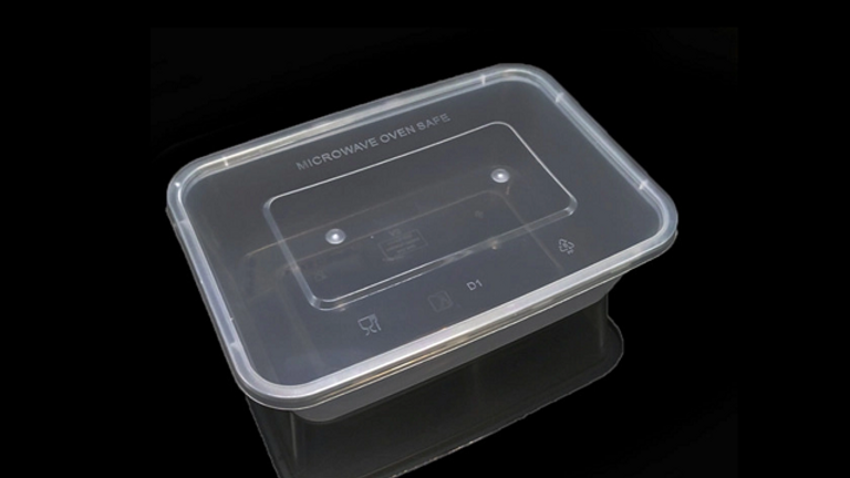 Eco friendly disposable lunch box with lid - 650ml