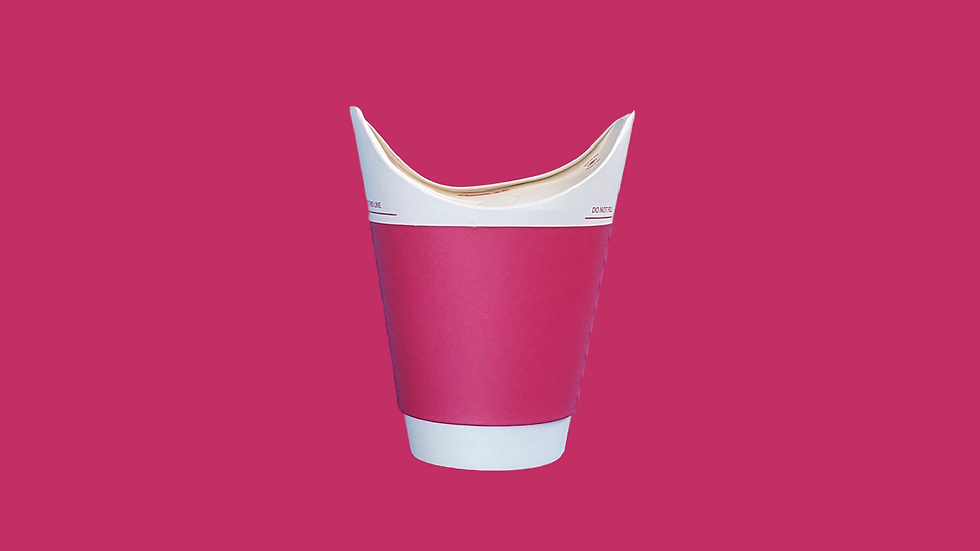 Red Double Wall Hot Cup 10oz/300ml