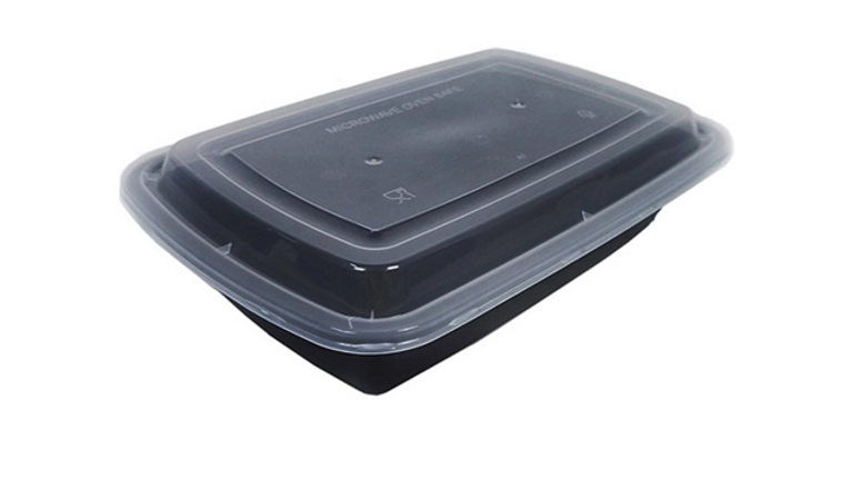 Eco friendly disposable lunch box with lid - 32oz