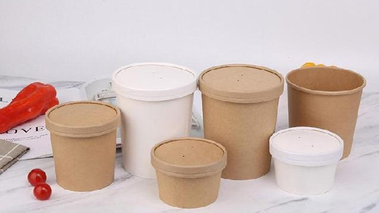 Eco friendly disposable Paper Bucket with Lid (PLA or PE Lamination)