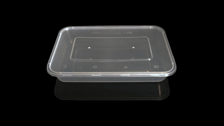 Eco friendly disposable lunch box with lid - 1200ml