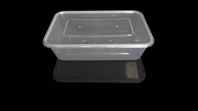 Eco friendly disposable lunch box with lid - 2000ml