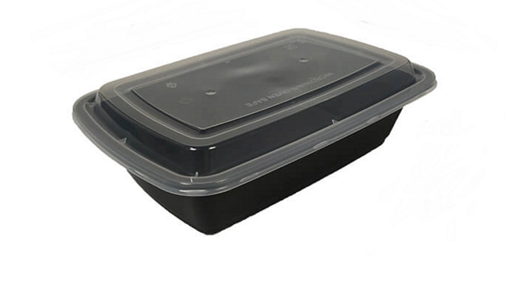 Eco friendly disposable lunch box with lid - 38oz