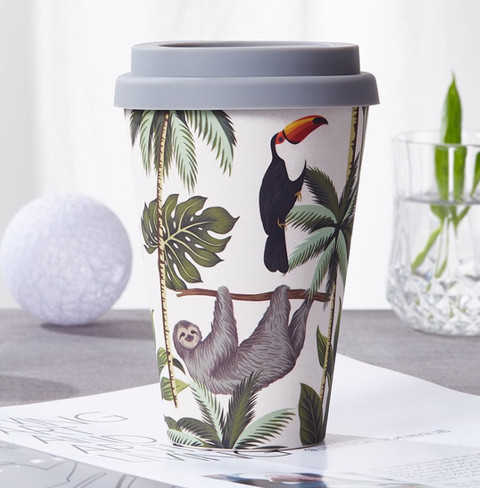Bamboo plastic cup