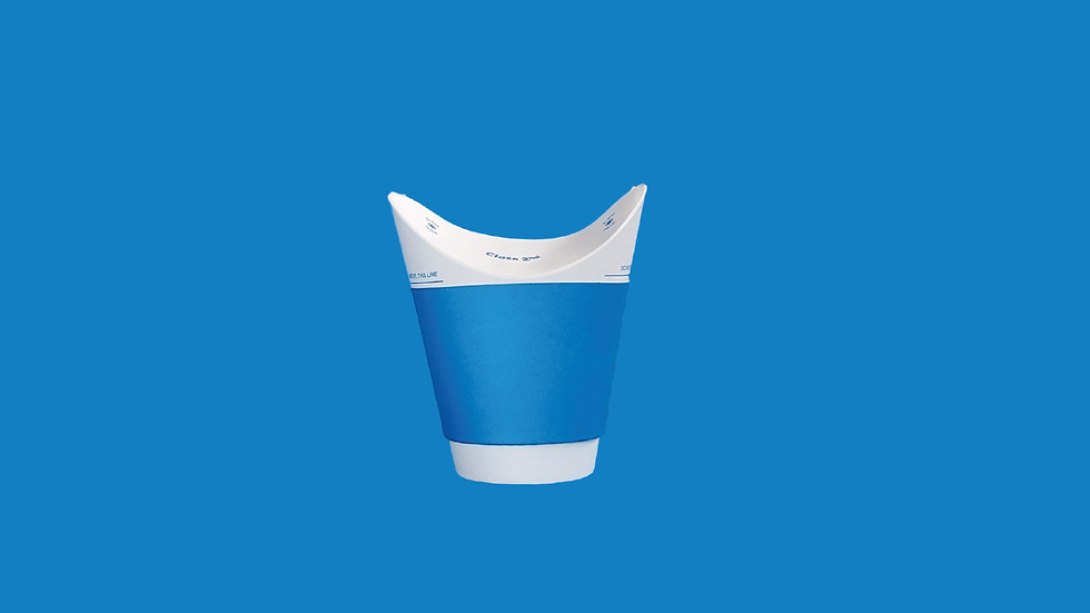 Blue Double Wall Hot Cup 8oz/250ml