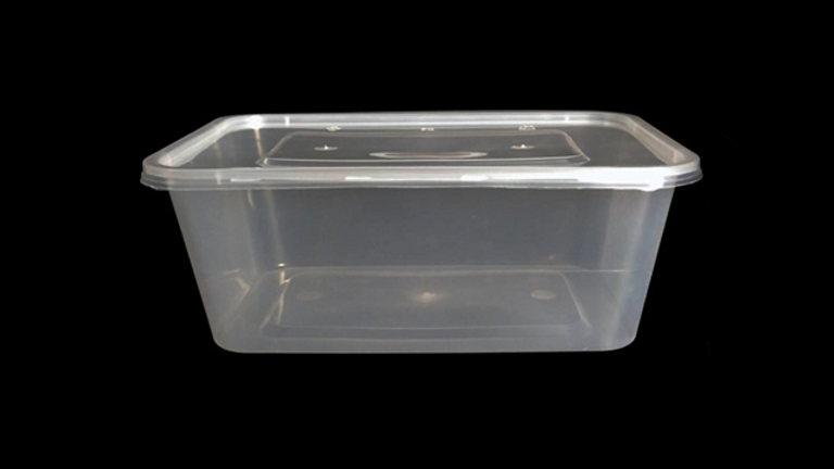 Eco friendly disposable lunch box with lid - 1000ml