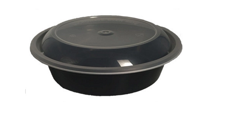 Eco friendly disposable bowl with dome lid - 24oz