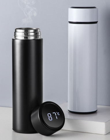 Thermo bottle with thermometer