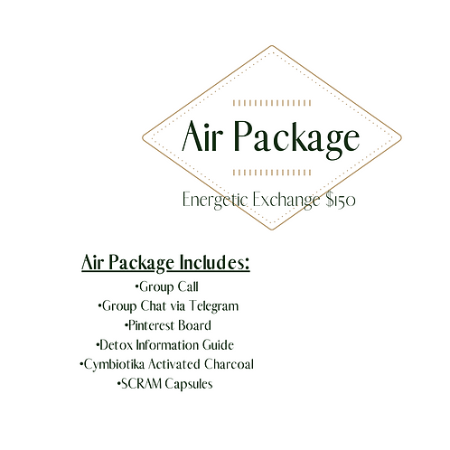 Parasite and Heavy Metals Detox Air Package