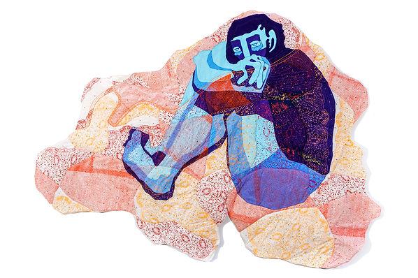 Cycle Ten fabric art