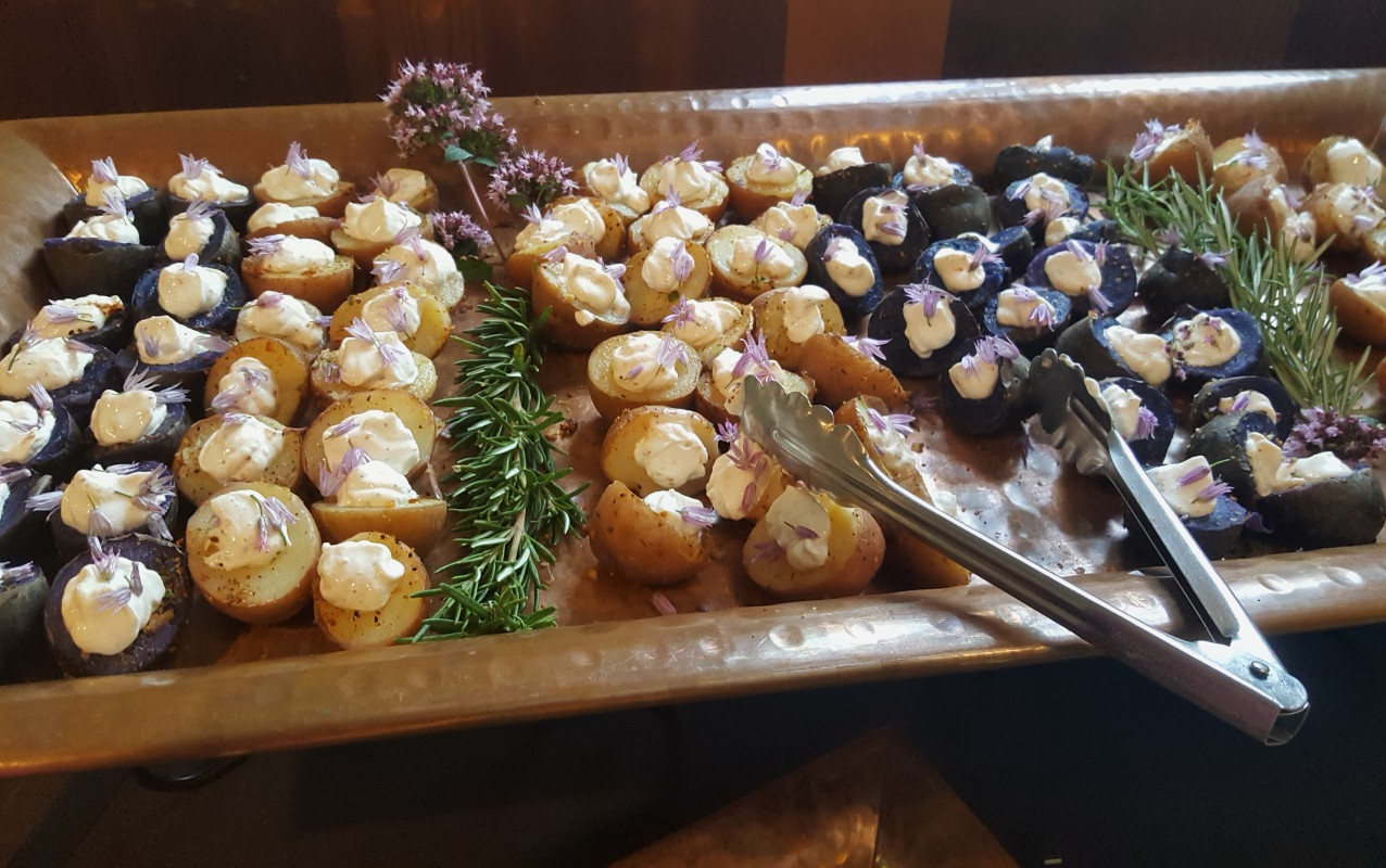 Both sweet and savory delights were up for grabs at the August mixer thanks to Sweet Basil Catering.