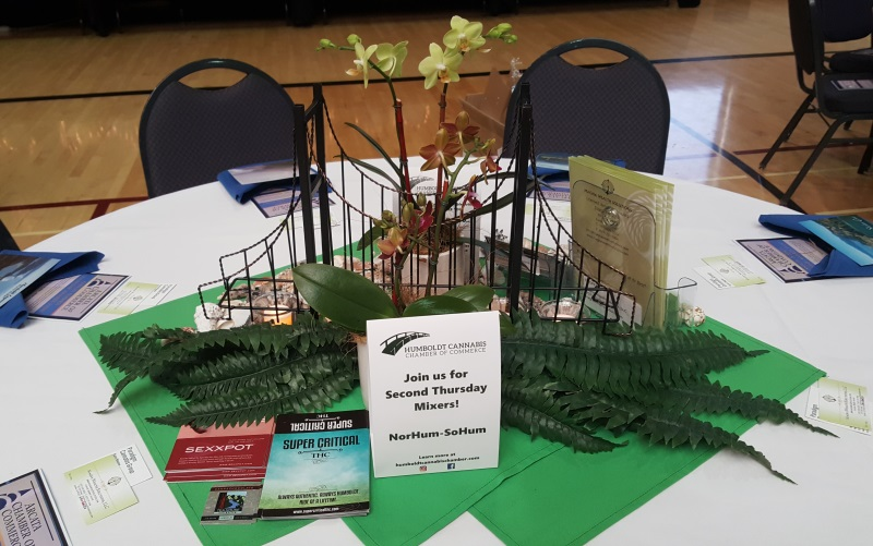 The fern side of the Humboldt-bridge themed centerpiece.