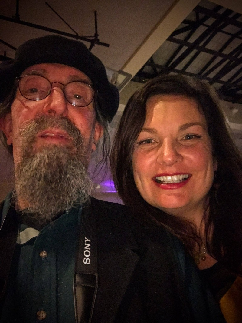Humboldt Cannabis Chamber board member Hollie Hall and Bob Doran pose for a selfie.