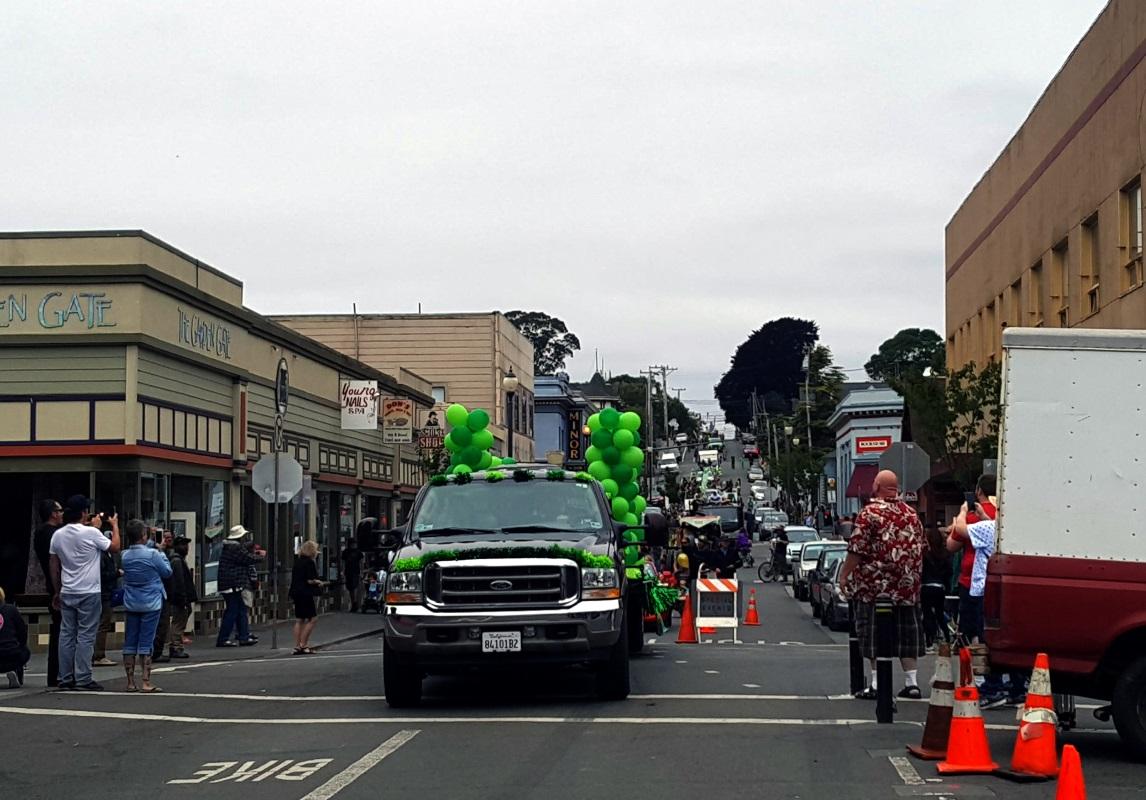 The Yes We Cann parade takes the celebration down 9th Street toward the Arcata Plaza.