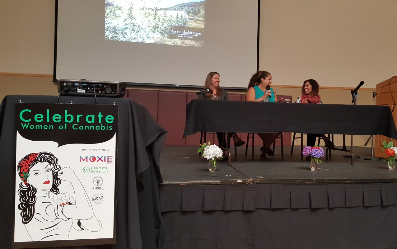 True Humboldt Operations Manager Chrystal Ortiz leads a panel including Kristin Nevedal of International Cannabis Farmers Association and Dr. Pepper Hernandez ND.