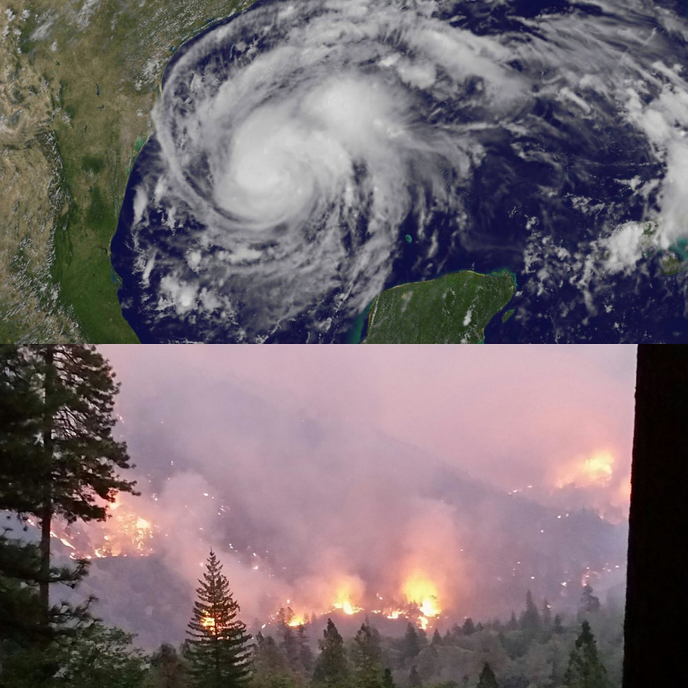 Hurricane Harvey and Helena Fire