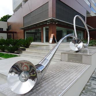 Obra de arte em aço inox