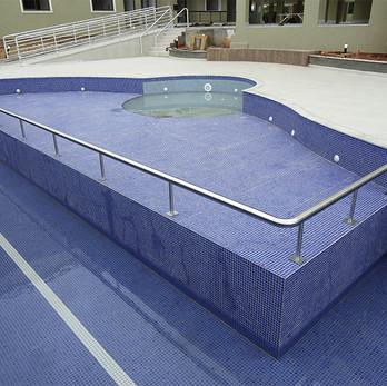 Corrimão em aço inox para piscina