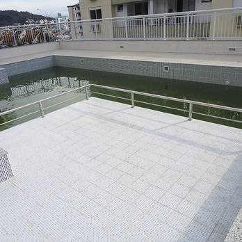 Corrimão para piscina em aço inox