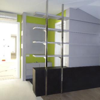Estrutura para estante em aço inox