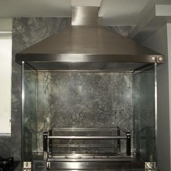 Coifa 4 águas para churrasqueira em aço inox