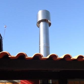 Tubulação com sputnik em aço inox