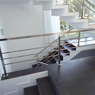 Guarda corpo para escada e mezanino em aço inox