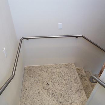 Corrimão em aço inox para escada
