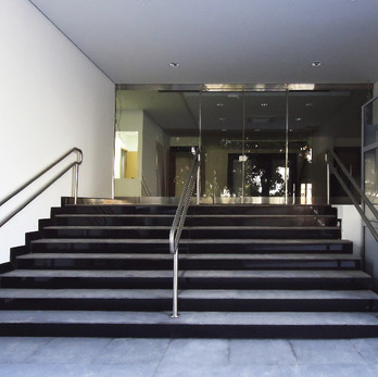 Corrimão duplo para escada em aço inox