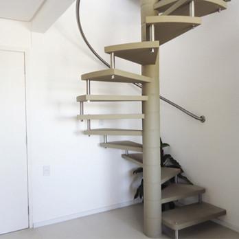 Corrimão para escada curva em aço inox