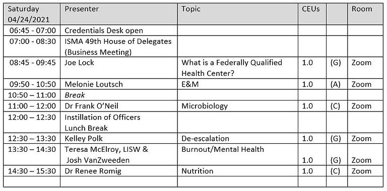 ISMA 2021 Conference Itinerary.JPG