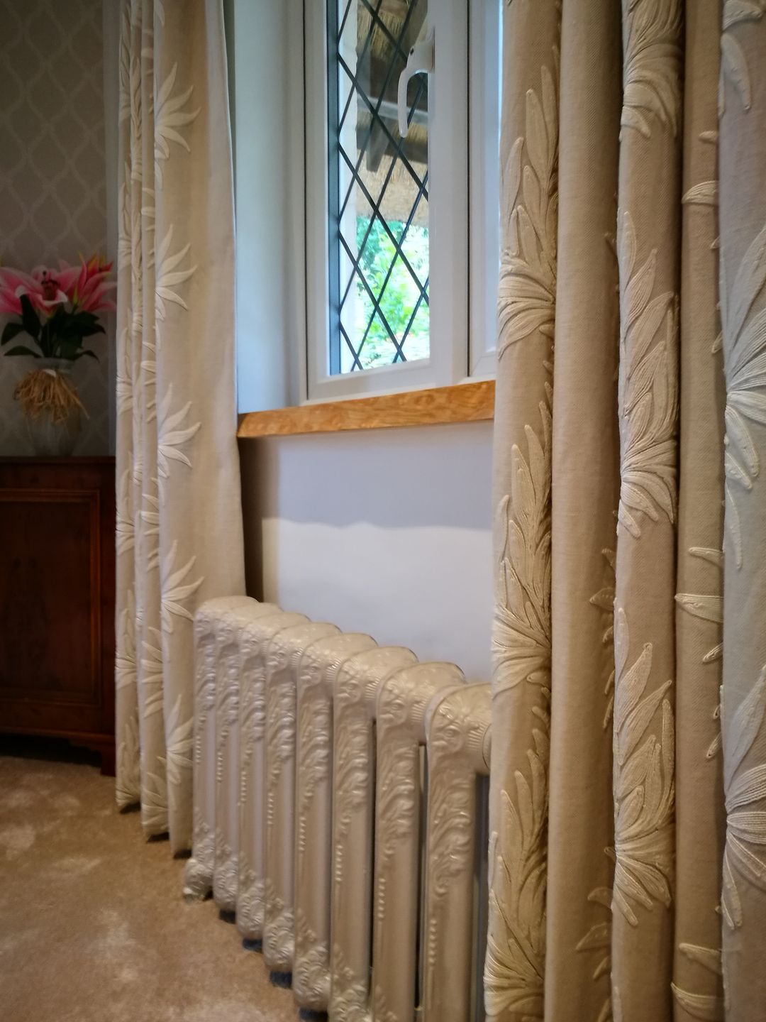 Curtains and radiator