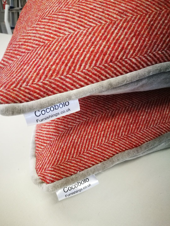 Cocobolo cushions