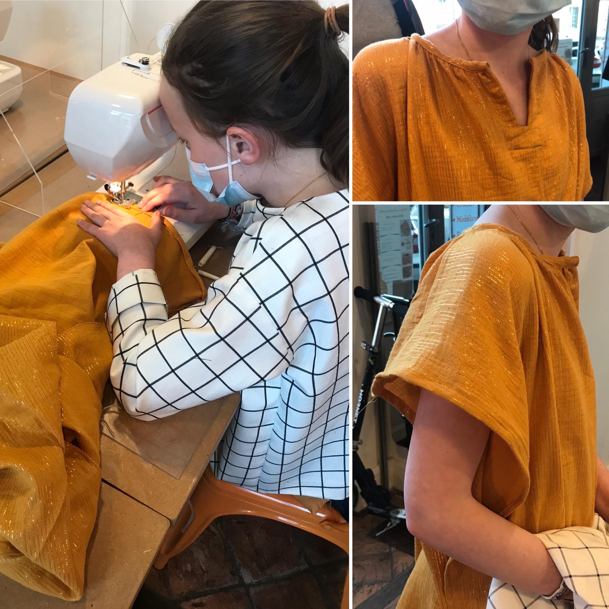Cours collectifs de couture ados