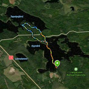 Liesjärven Kansallispuisto, Hyypiön kierros & kyynärharju