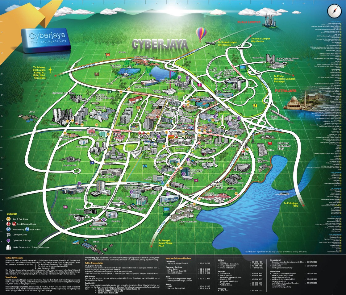 Cyberjaya Map
