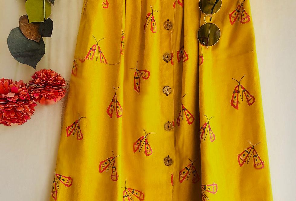 Butterfly Button Skirt