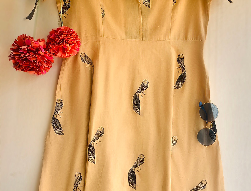 Beige Songbird Vintage Dress