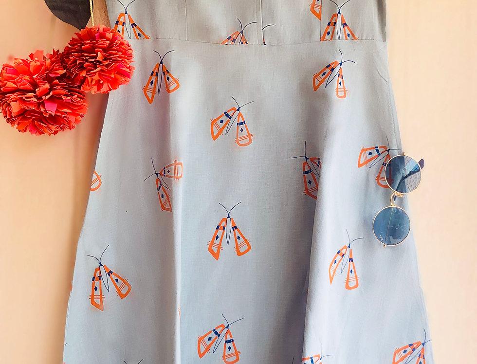 Sky Butterfly Vintage Dress