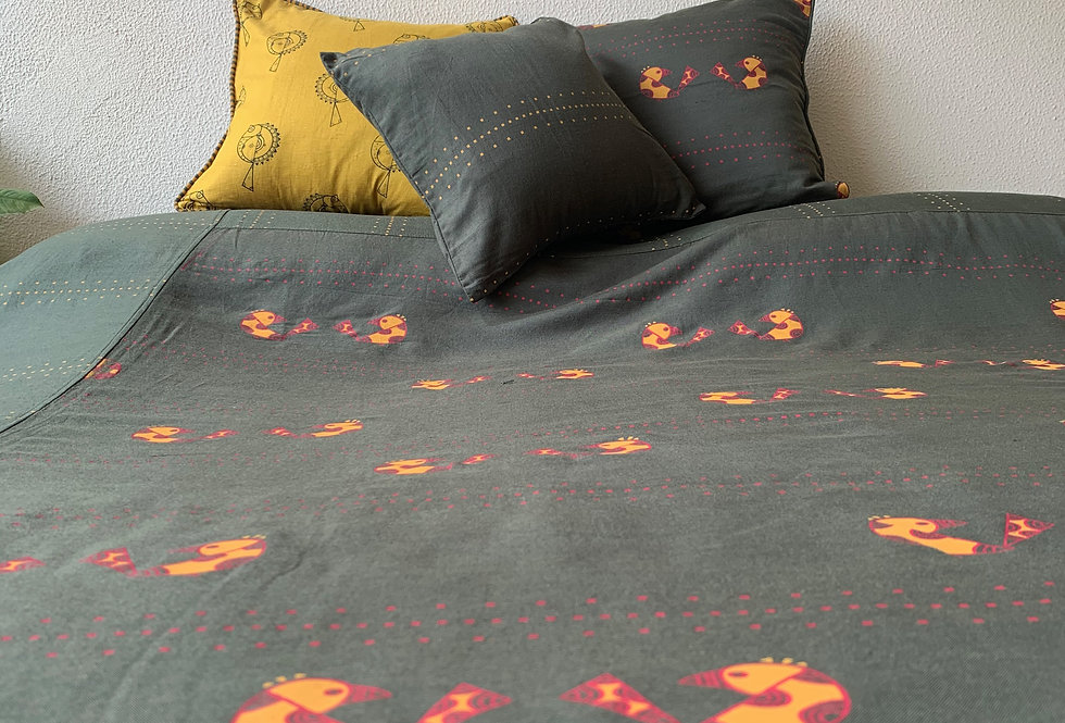 Lovebirds Bed Cover