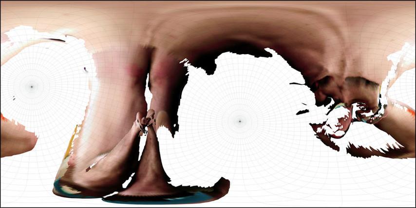 """Equidistant Cassini B10sph(1/1)2_98, chromogenic print, 48"""" x 96"""""""