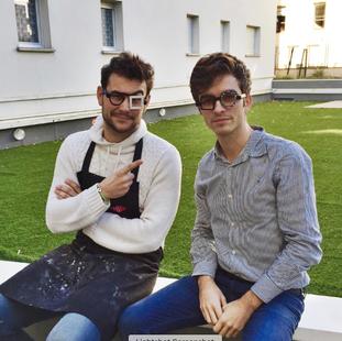 Damien Miglietta et le bloggeur bordelais stylnoxe