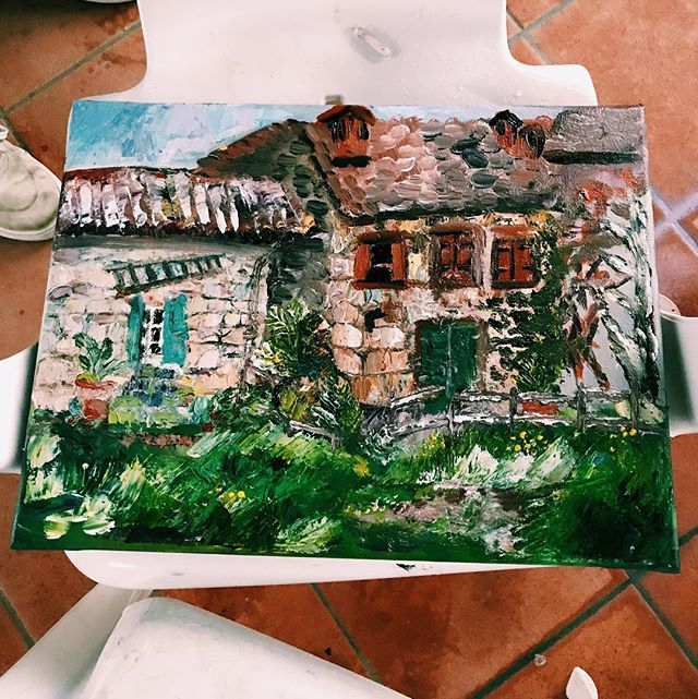 Rainy day painting in Casentino!