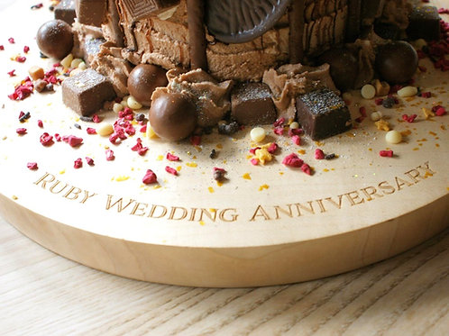 Wedding and celebration personalised wooden cake stand