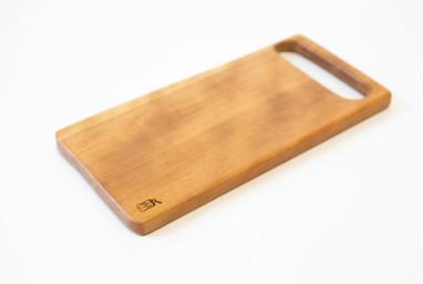 Handled serving boards.