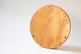 Wooden pizza dish
