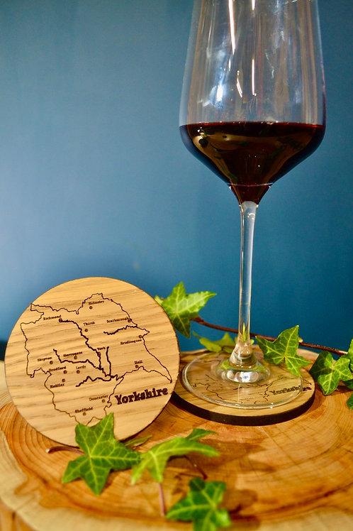 Wooden drinks coaster