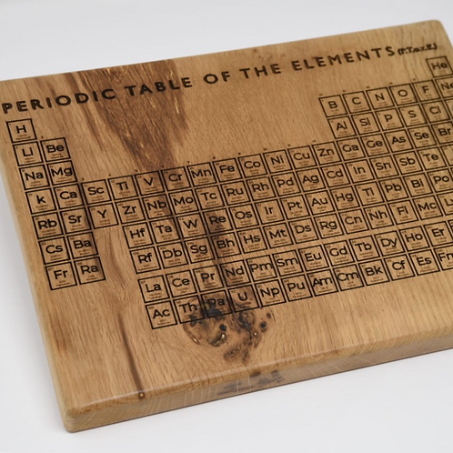 Wooden Periodic Table