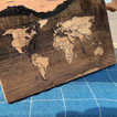 Wooden map pictures