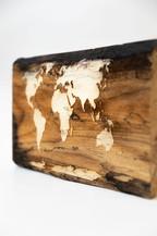 Large world wooden maps